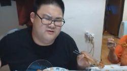 '현기증 남' 형욱이 치킨을 먹는