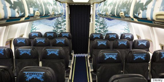 캐나다에서 만든 '겨울왕국' 테마 여객기(사진,