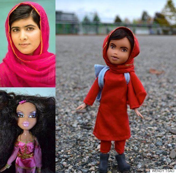 브랏츠 인형을 개조해 만든 세계적인 여성의
