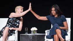 샤를리즈 테론-미셸 오바마, 젊은 여성을 위한 멋진 말들을