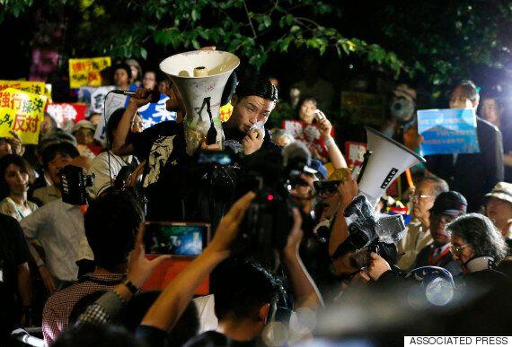 日 안보법 반대 대학생단체 리더