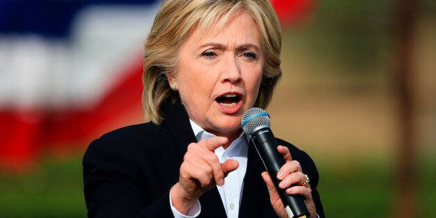 Democratic presidential candidate Hillary Rodham Clinton speaks Wednesday, Oct. 7, 2015, during a campaign...