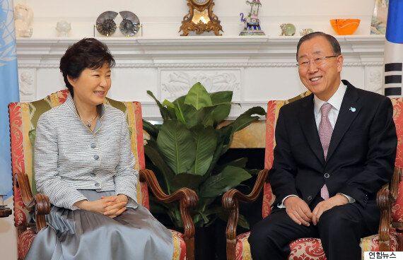 박 대통령-반기문 총장, 뉴욕서 7차례에 걸쳐