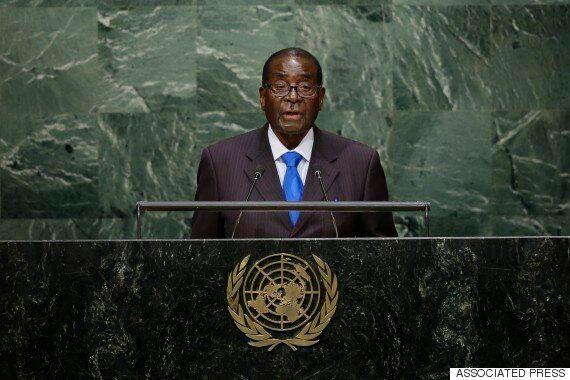 짐바브웨 대통령 무가베, UN에서