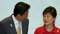 아베 총리, 박 대통령에 말을