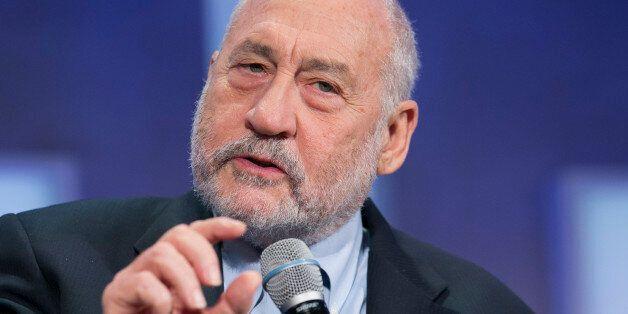 Columbia University Professor Joseph Stiglitz speaks at the Clinton Global Initiative, Monday, Sept....
