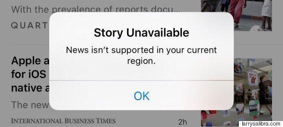 '차이나 킬 스위치'? 애플, 중국에서 '뉴스' 앱 접속