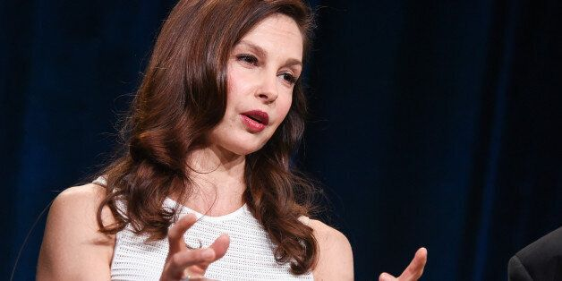 Ashley Judd speaks on stage during the Independent