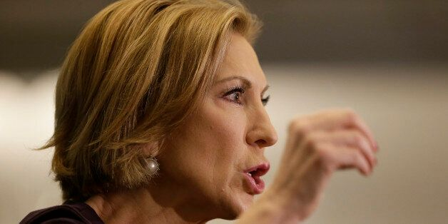 Republican presidential candidate Carly Fiorina speaks during the Quad Cities New Ideas Forum, Friday,...