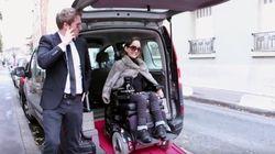 휠체어를 탄 장애인을 위한 '우버'