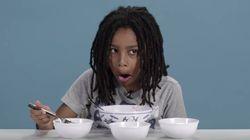 미국 아이들이 전 세계의 저녁을