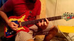 레고로 만든 기타는 어떤 소리를