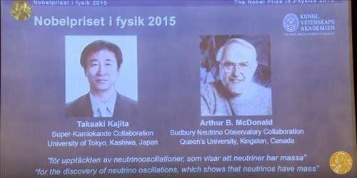 노벨물리학상 '중성미자 질량발견' 日가지타·캐나다