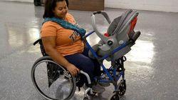 장애인 엄마들을 위해 개발한 휠체어 -
