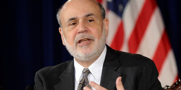 Federal Reserve Chairman Ben Bernanke speaks during a news conference at the Federal Reserve in Washington,...