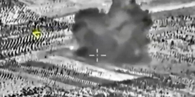This image made from footage taken from Russian Defense Ministry official website on Friday, Oct. 2,...