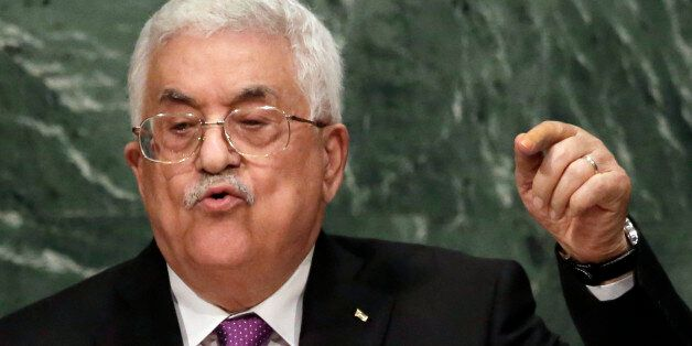 Palestine's President Mahmoud Abbas addresses the 70th session of the United Nations General Assembly,...