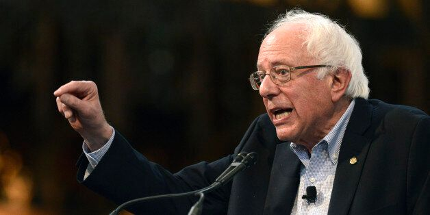 Democratic presidential candidate Sen. Bernie Sanders, I-Vt. speaks at the University of Chicago, Monday,...