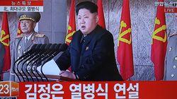 김정은 국방위원장의 열병식