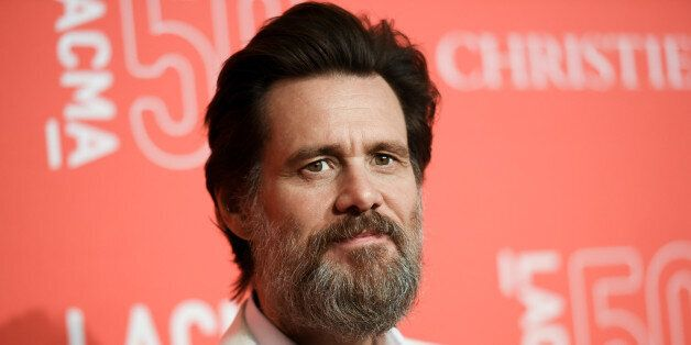 FILE - In this April 18, 2015 file photo, Jim Carrey arrives at LACMA's 50th Anniversary Gala in Los...
