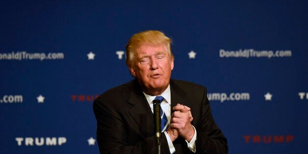 Republican presidential candidate Donald Trump speaks at an event, Saturday, Oct. 3, 2015, in Franklin,...