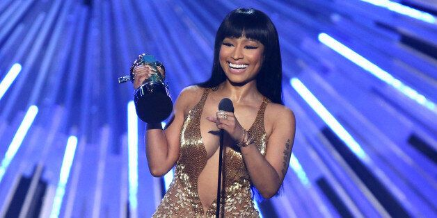 Nicki Minaj accepts the award for hip-hop video of the year