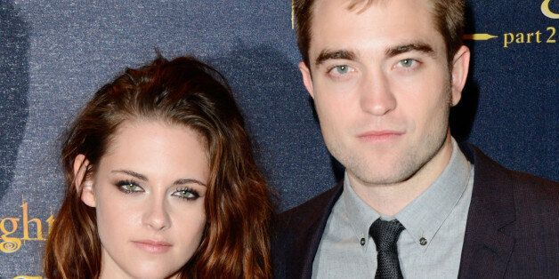 Actors Kristen Stewart and Robert Pattinson are seen at The Twilight Saga: Breaking Dawn Part 2: European...