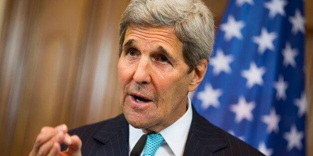 U.S. Secretary of State John Kerry gestures during a news conference with German Foreign Minister Frank-Walter...