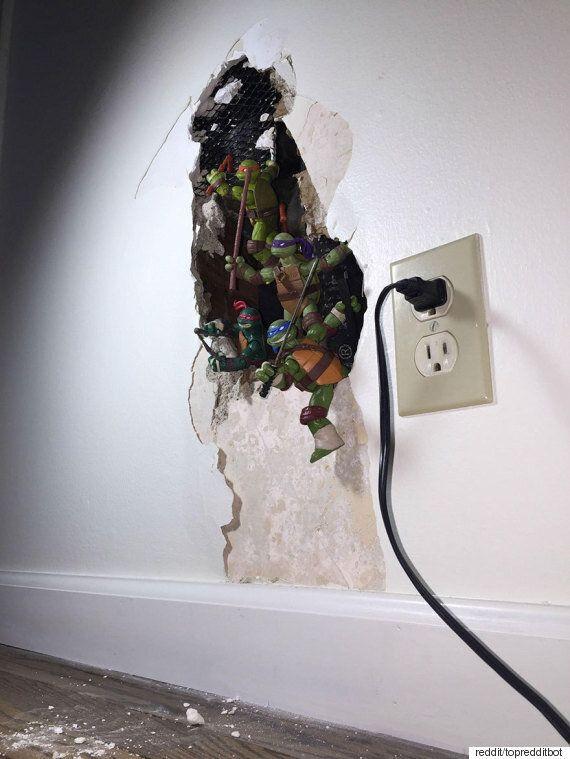 구멍난 벽을 고치는 아주 손쉬운