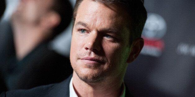 Matt Damon arrives at Project Greenlight Season Four Winner Revealed on Friday, Nov 07, 2014, in Los...