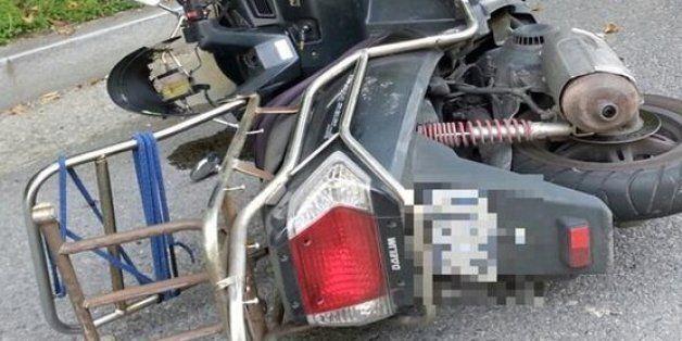 사고 당한 오토바이 택배를 대신 배달한