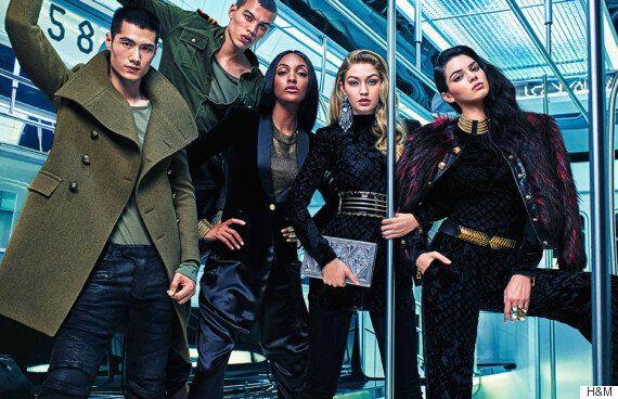 H&M X 발망 콜라보레이션 광고가 드디어