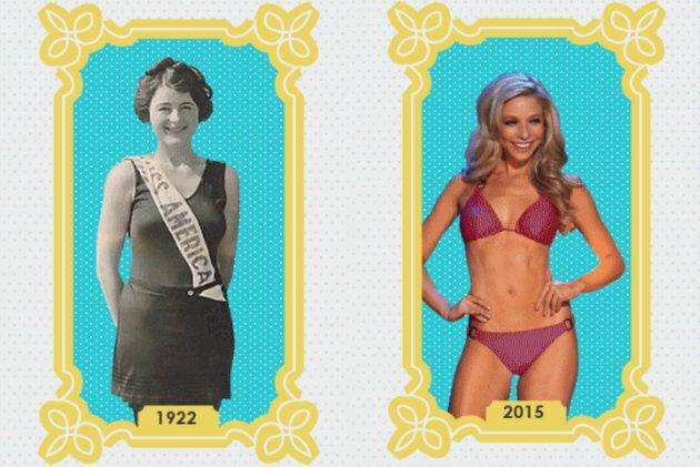 미스 아메리카의 몸매는 95년 동안 이렇게