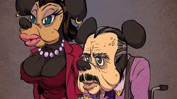 만화 캐릭터들이 노인이 된 모습은