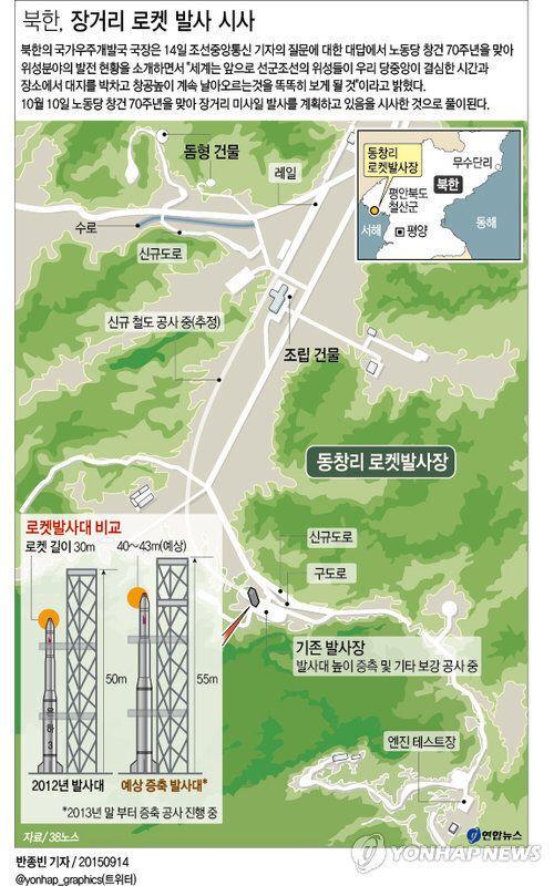 북한, 장거리 로켓 시험 발사