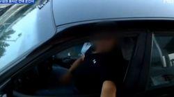 톨게이트에서 변태행위 하는 운전자
