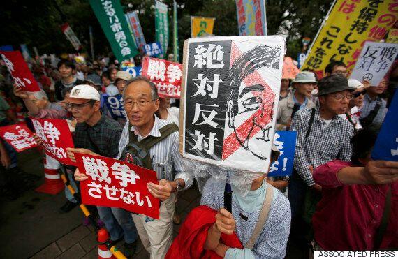 일본 집단자위권법안, 참의원 본회의 가결로