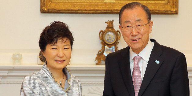 반기문 총장 만난 박 대통령