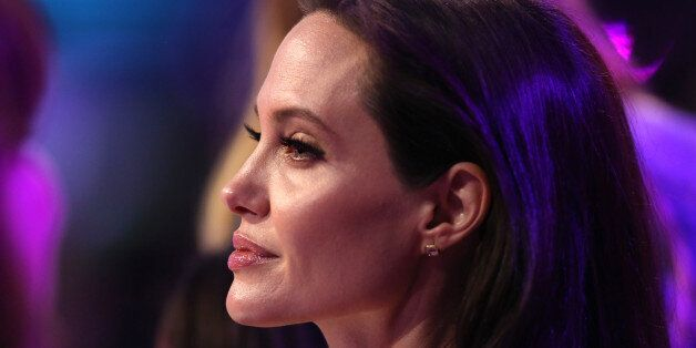 Angelina Jolie appears in the audience at Nickelodeon's 28th annual Kids' Choice Awards at The Forum...