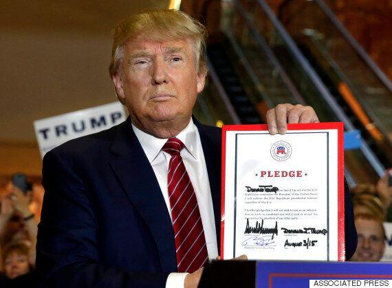 트럼프, 경선 결과 승복을 약속하다