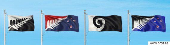 뉴질랜드 새 국기 최종후보 4편이