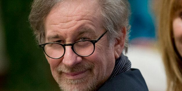 FILE - In this Dec. 7, 2014 file photo, filmmaker Steven Spielberg attend the reception in the East Room...