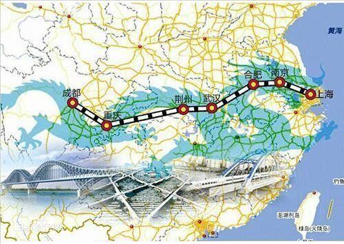 중국, 양쯔강 동서로 잇는 고속철
