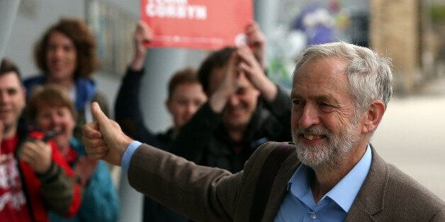 Labour's Jeremy Corbyn arrives to take part in a Labour party leadership final debate, at the Sage in...