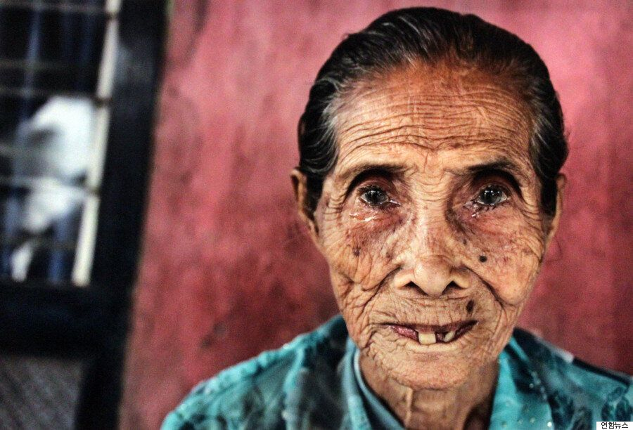 5개국 위안부 피해자들의 얼굴에는 전쟁의 상흔이 그대로