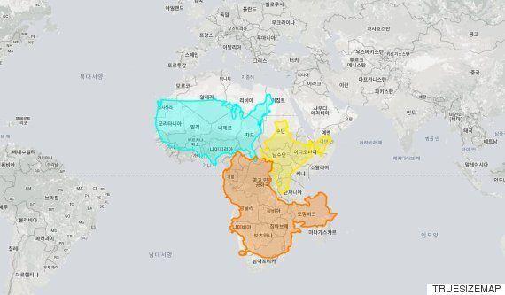 '트루 사이즈 맵'을 보면 당신이 지금까지 지구를 완전히 잘못 보고 있었다는 사실을 알 수