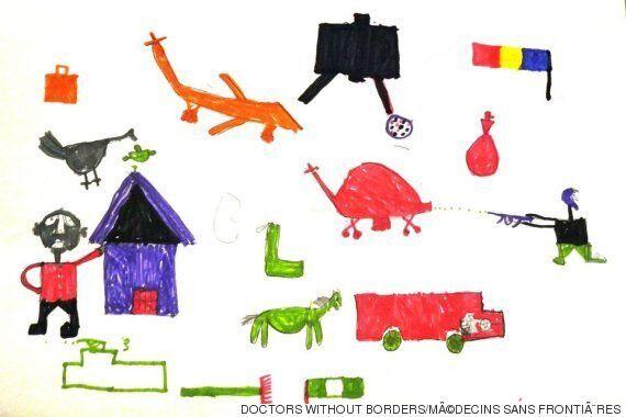 보코하람의 테러로부터 살아남은 아이들이 그린 그림을