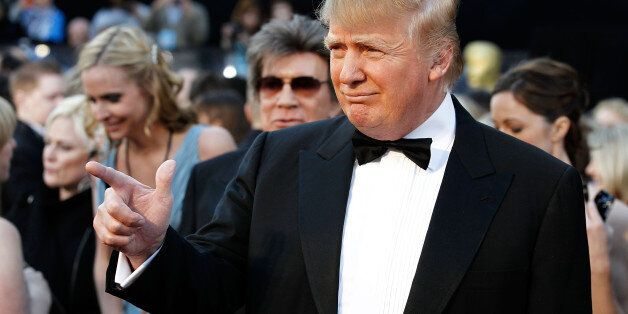 Donald Trump arrives before the 83rd Academy Awards on Sunday, Feb. 27, 2011, in the Hollywood section...