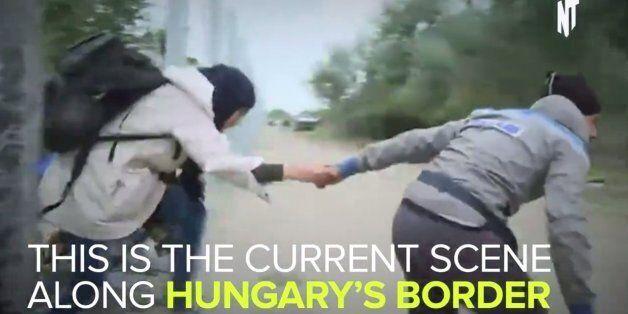 헝가리 국경에서 매일 벌어지는