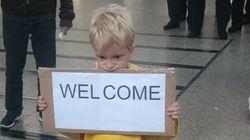 이 독일 아이가 난민들을 환영하는 방법(사진